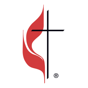 The cross and flame, the UMC logo.